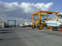 Both remnants of the crane war now grace Larnaca Marina - just make sure about the insurance