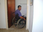 Door width for wheelchair users is fine